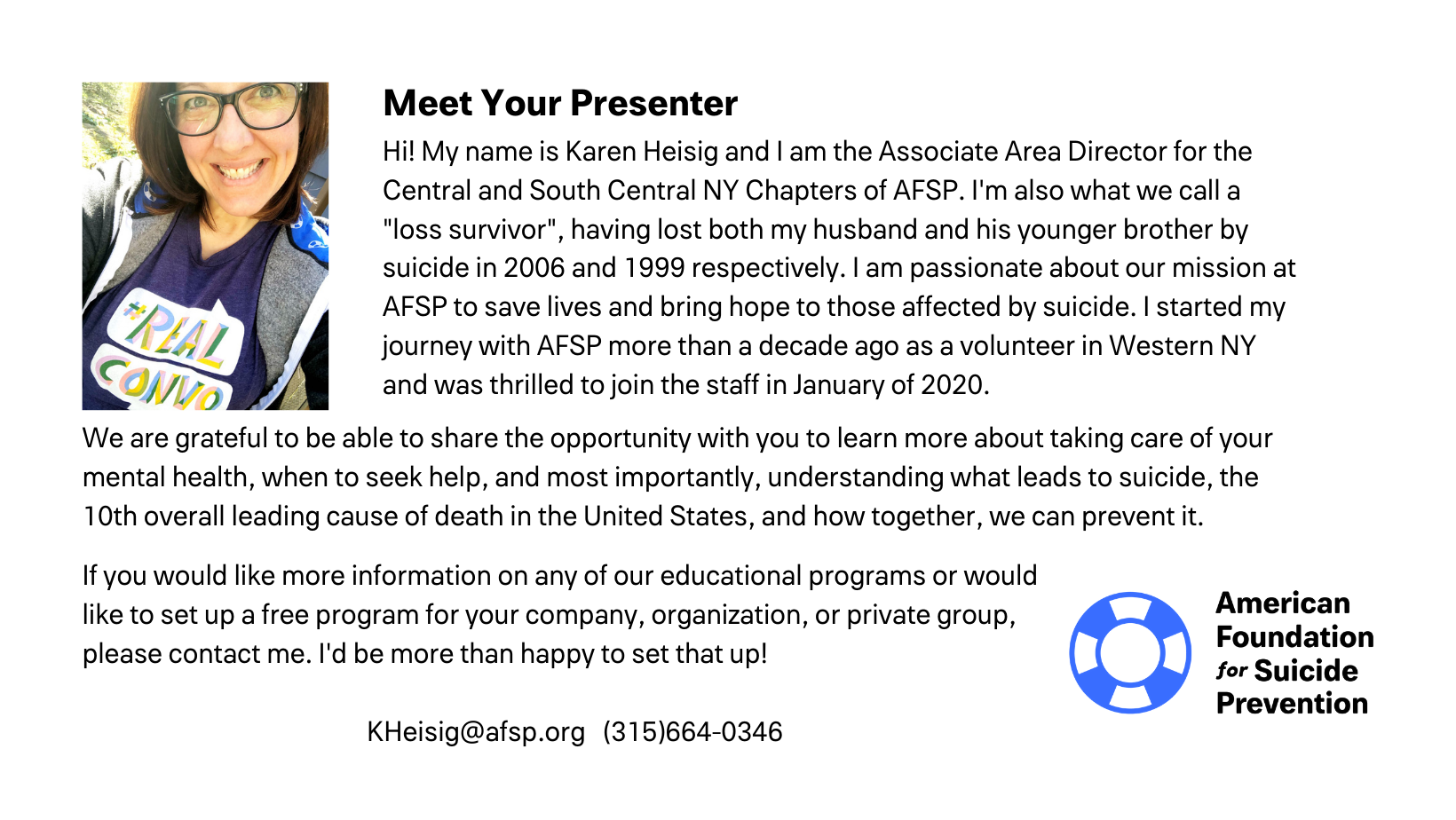 Meet your presenter!